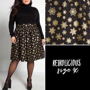 Retrolicious snowflake skirt